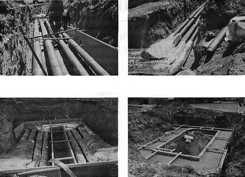Four Typical Underground Pipe Installations